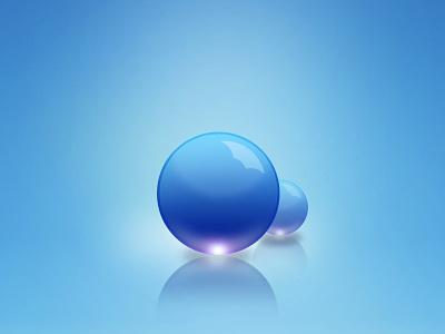 Blueballs ball blue light