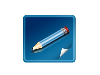 Icon button icon ui web draw pencil paper design blue