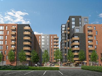 Apartments photoshop c4d vrayforc4d archviz architecture