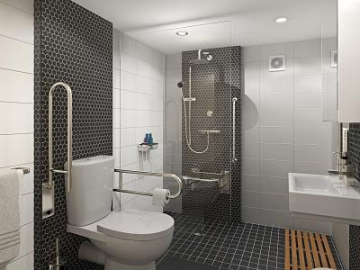 CwtchPod: Bathroom architectural visualisation cardiff caerphilly design 3d art brochure redshift3d photoshop c4d archviz