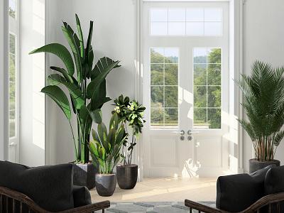 Classical Room Cam 2 3d interior design redshift3d c4d photoshop archviz