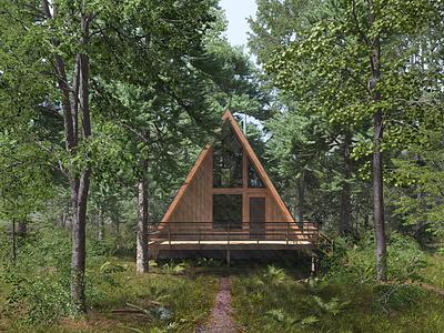 Woodland Cabin - Summer