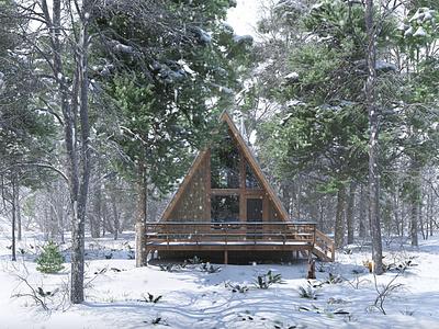 Woodland Cabin - Snow