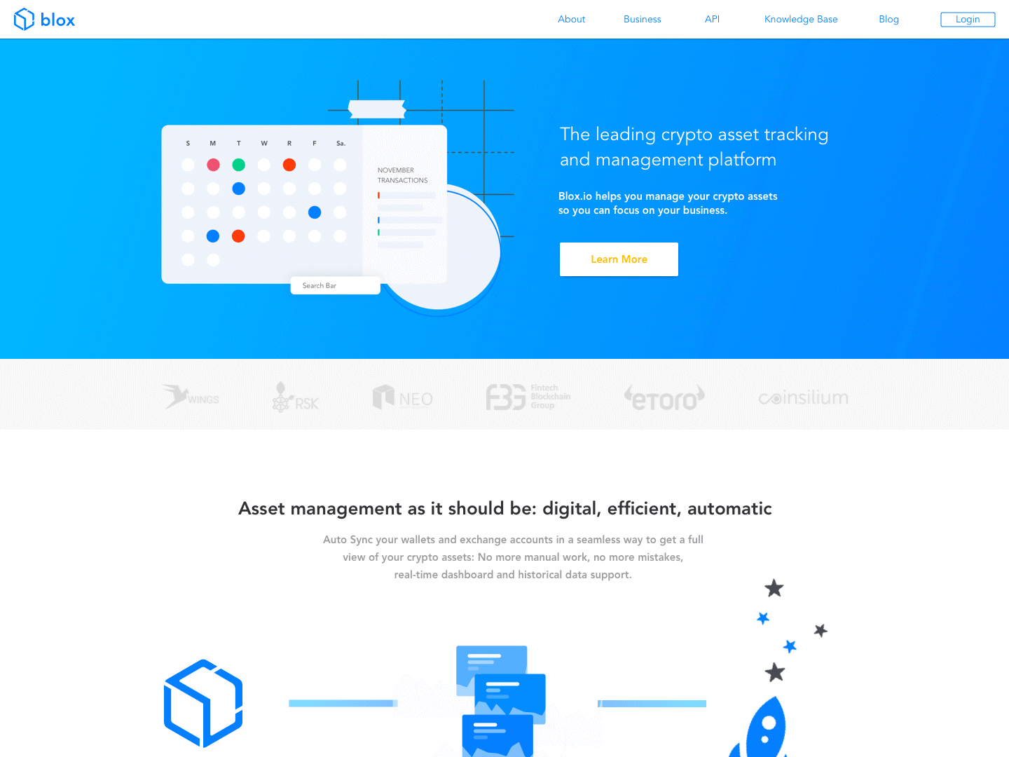 Blox Landing Page by Dylan McAdam on Dribbble