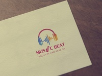 """Music Beat"" Music Industry Logo Design"