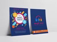 """Music Beat"" Music Industry Flyer Design"