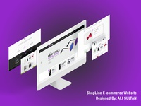ShopLine E-Commerce Website UI/UX Design