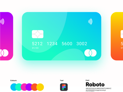 atm card ui design ux illustration flat design ui