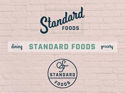 Standard Foods grocery restaurant logo food