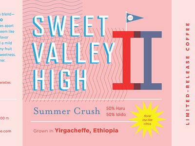 SVH2 summer pink packaging label 2 type coffee