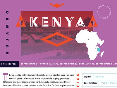 Kenya Site triangles web coffee purple africa kenya
