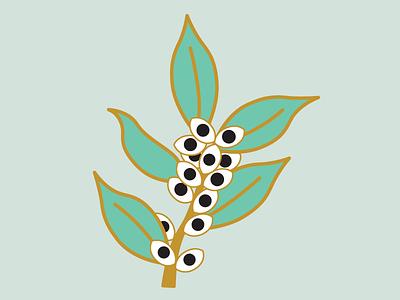 Eye Branch leaves branch eye