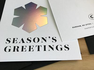 Holiday Card card season rainbows foil holographic christmas winter snowflake holiday