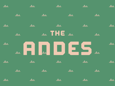 The Andes pattern mountains coffee