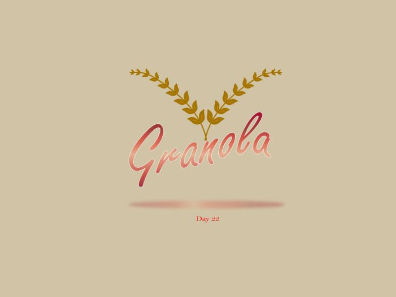 Granola granola logo design ilustrator adobe