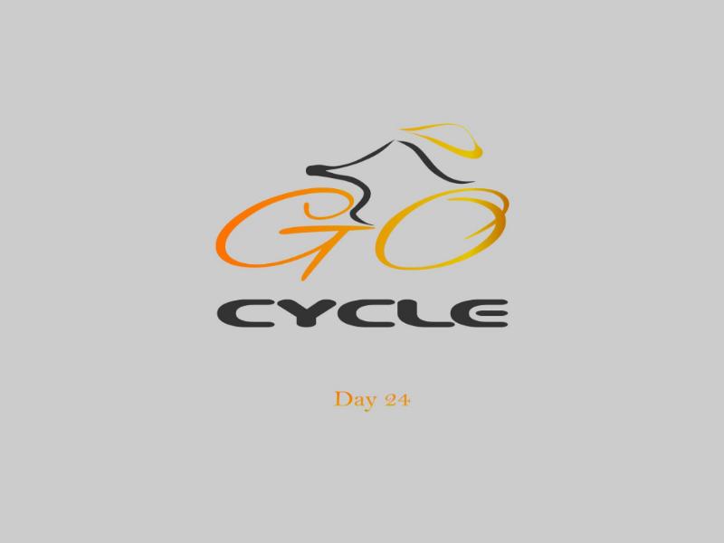 Go Cycle bicycle logo design adobe