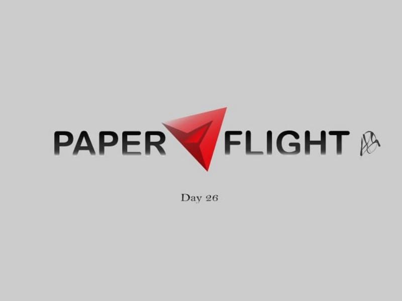 Paper Flight logo paper aeroplane