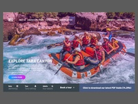 TaraRafting Website design