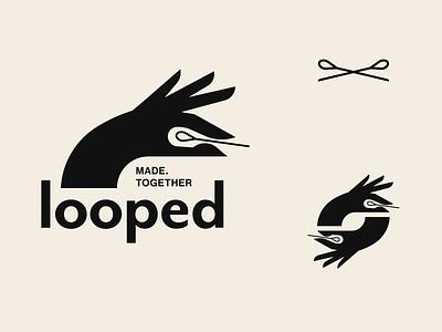 Looped Studios Branding vector modern simple minimalist identity logotype stamp logo branding