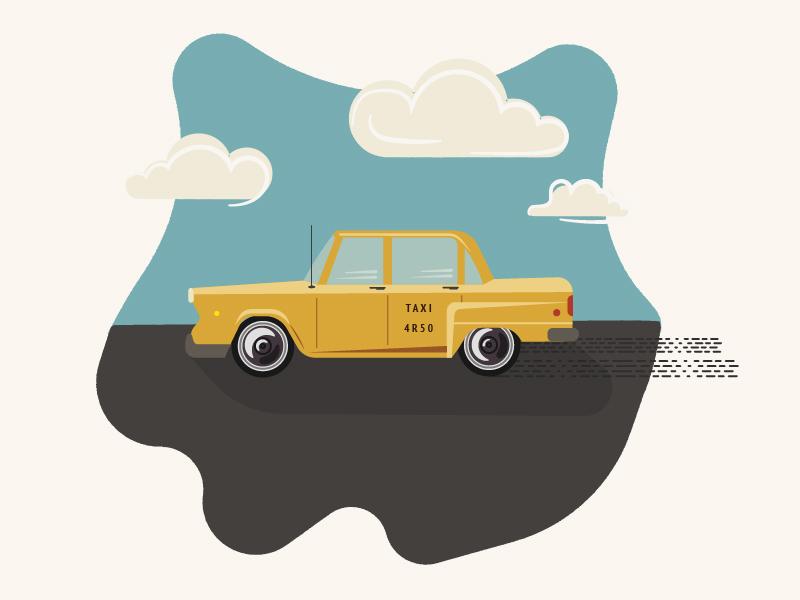 Taxi Illustration car illustration retro car yellow cab yellow taxi taxi retro retro taxi midcentury infographic elements graphic yellow poster vector simple modern minimalist illustration