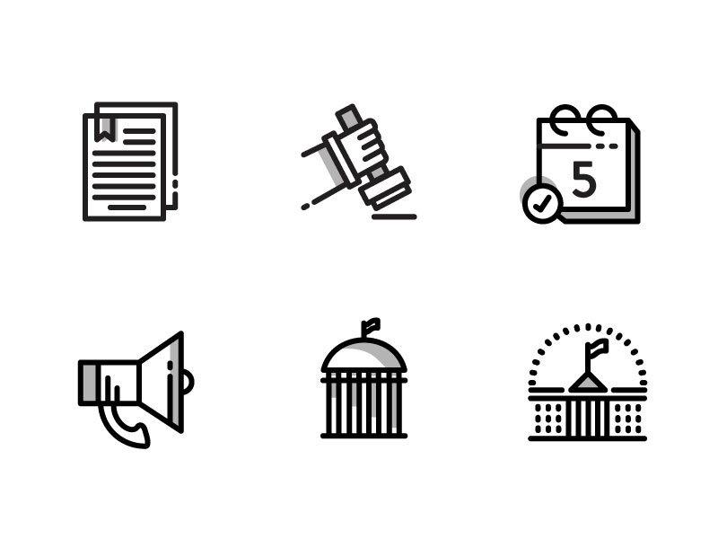 Municipal Work Icons infographic icons icon set ui interface icon design grayscale black and red black and white button iconography icon logo graphic vector modern design simple minimalist illustration