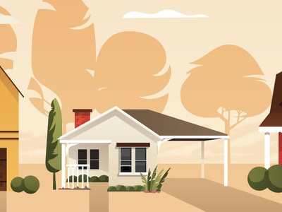 Home with Carport Illustration