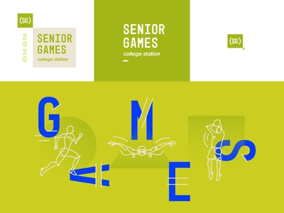 Senior Games Green Identity