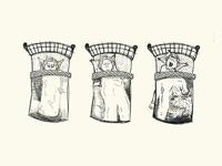 """The Sleeper"" Hand Illustration"