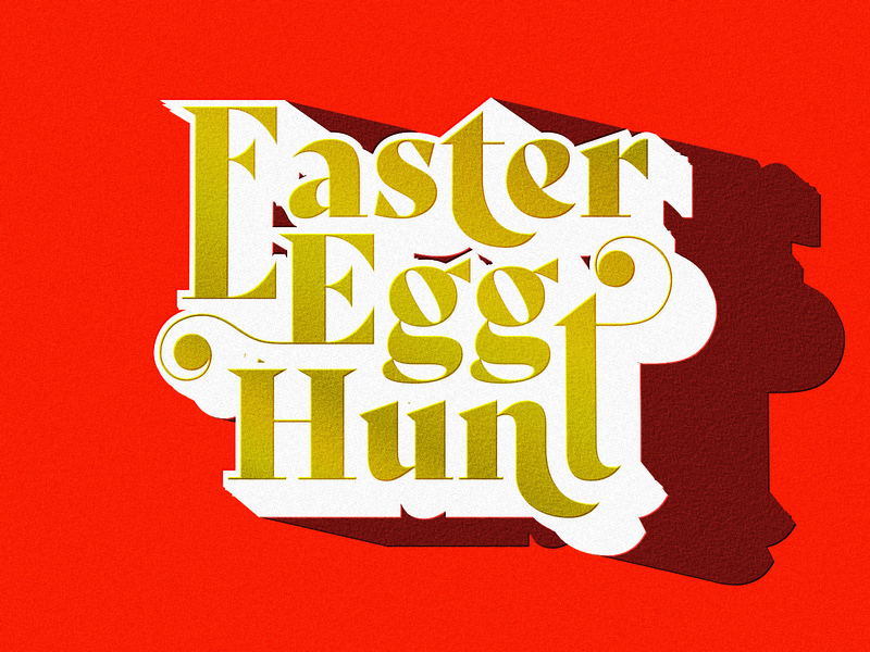 Easter Egg Hunt Typography great type typography design serif font texture print shadow wordmark orange logo modern serif easter orange red gold custom type type typography