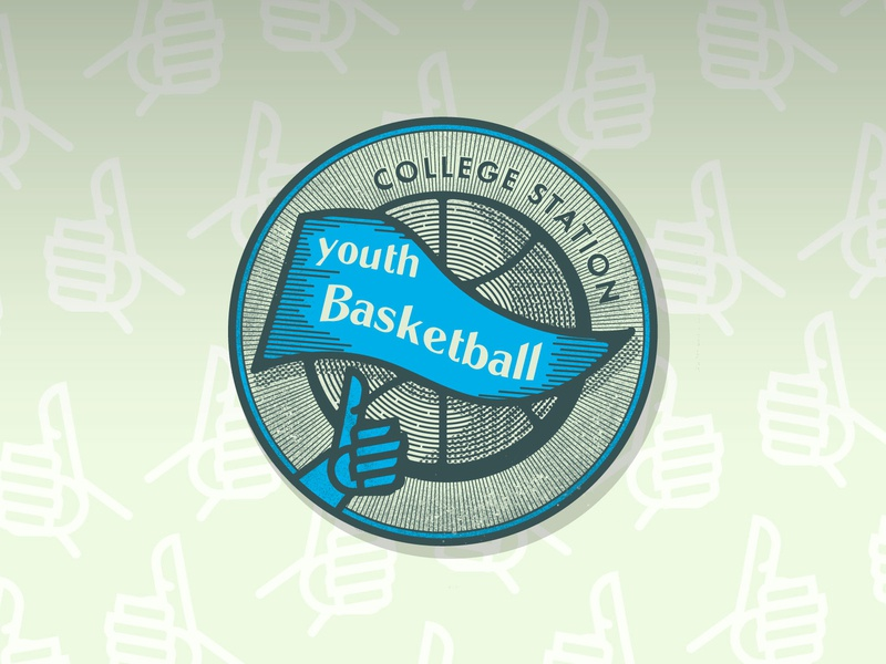 Retro Youth Basketball Sticker seal retro badge retro design vintage type typography vector branding pattern basketball youth basketball thumbs up sticker illustration retro