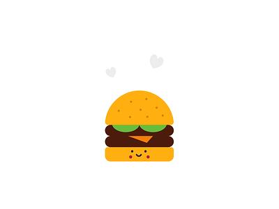 Delicious Burger illustration art illustraion food burger flat art minimal illustration design vector typography illustrator branding brand