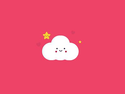 Nice Cloud flat vector icon art design identity illustration branding illustrator brand cloud nice