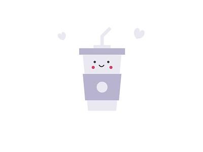 Cute cup cup icon logo minimal vector flat illustrator design illustration art branding brand