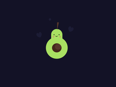 Cute Avocado typography flat identity vector art illustrator illustration design branding brand