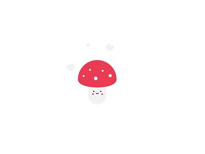 Cute Mushroom illustration minimal animation identity icon illustrator art design branding brand