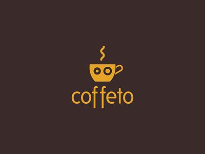 Coffeto typography logo icon vector illustration art design illustrator brand branding