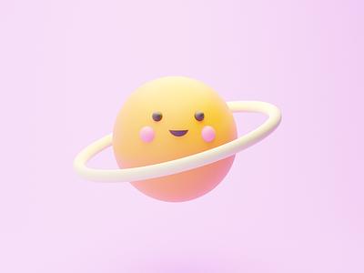 Cute Saturn ux vector illustration art design illustrator brand branding logo motion graphics graphic design 3d animation ui