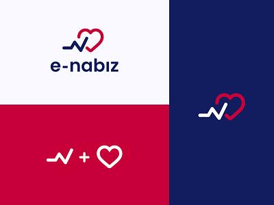 E-nabız Logo concept redesign. ux ui art logo vector illustration design illustrator brand branding