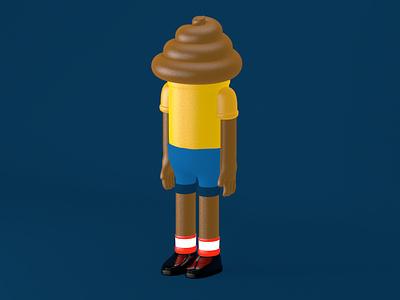 Poop Boy poop boy character cinema4d 3d art