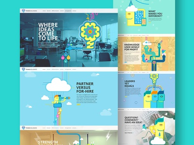Thinknologies IT Company Website Design out-off the box it company webdesign illustration website
