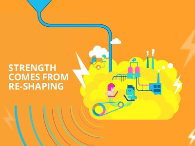 Storytelling Illustration - Creative Team out-off the box it company webdesign illustration website