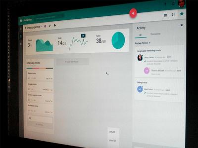 Project Management Web Application ux ui simple flat material application dashboard management project