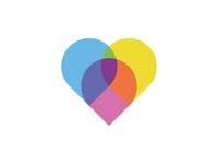 Map Pins - Heart simple design logo heart flat app icon minimal modern rebound illustrator pins