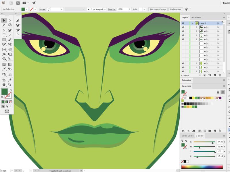 Vector Ilustration (WIP) design work in progress marvel green comic character cartoon illustration vector