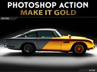 Make it Gold Action Photoshop