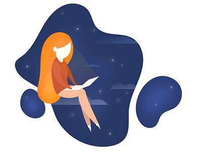 Cloud Nine working working space cloud app vector design illustration