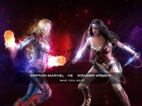 Wonder Woman Captain Marvel. Who You Got?