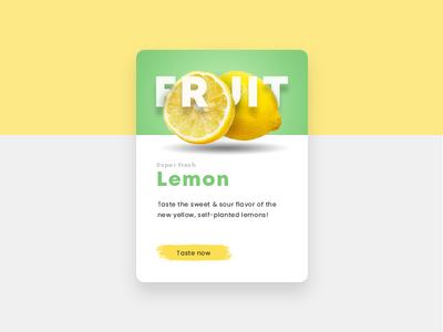 Lemon Fruit Teaser