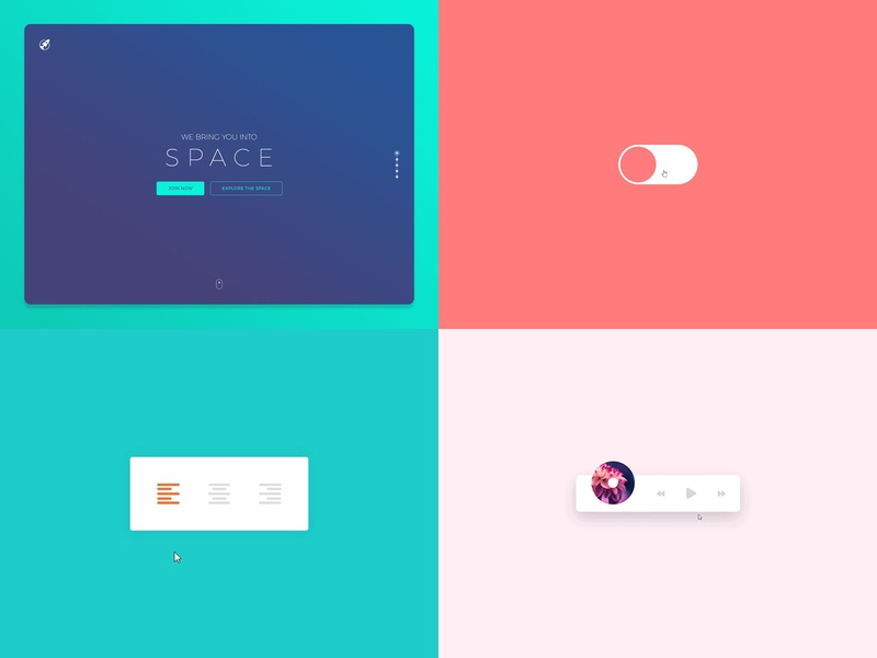 Top 4 from 2018 micro interaction interaction animation website toggle graphic ui web design top4 design