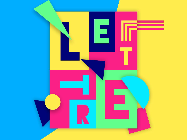 Letters & Shapes crazy letters shapes colorful ui